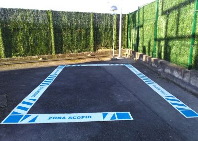 Señalización vial en subestaciones eléctricas.