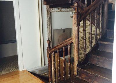 Pintura en rehabilitación de vivienda de 1874.